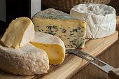French cheese platter for dessert