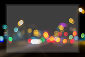 blurred background night city with empty space for text