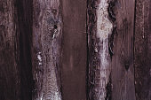 dark brown wooden vertical  planks