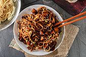 Noodle with Black bean Sauce