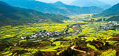 Rural landscape in wuyuan county, china.
