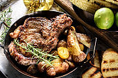 Steak with Pan Fried Potatoes