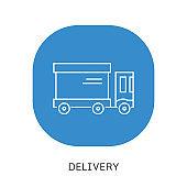 Truck, cargo container vector