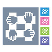 Partnership,collaboration,help vector line icon, sign, illustration