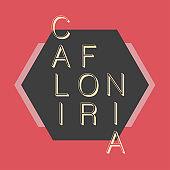 California typography. Modern t-shirt graphics
