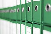 Ring Binders, File archive office shelf.