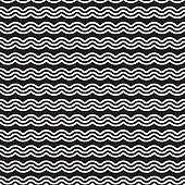 Seamless wavy lines pattern. Repeating vector texture. Stylish stripes background. Contemporary graphics with parallel waves.