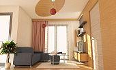 Sunny Living Room Interior Design