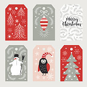 set of Christmas cards vector illustration.