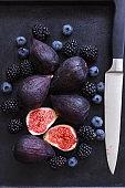 Figs, blackberries and blueberries