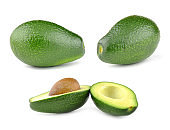 Avocado. Whole and cut in half