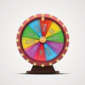 Colorful fortune wheel. isolated on white background.