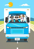 Dog driving a Lorry