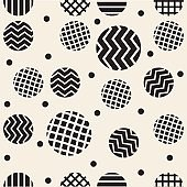 seamless monochrome mix stripe dot pattern background like a star