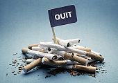 Quit or stop smoking