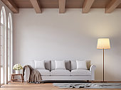 Scandinavian living room 3d rendering image