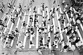 City Busy pedestrian crossing
