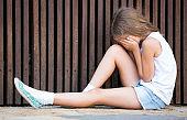 alone worried girl