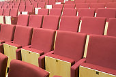 Comfortable chairs in modern audience hall