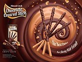 Chocolate covered stick ads