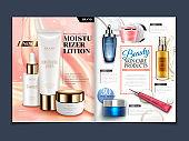 Skincare magazine template