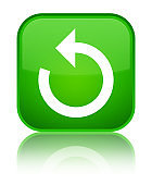 Refresh arrow icon special green square button