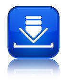 Download icon special blue square button
