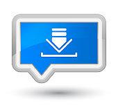 Download icon prime cyan blue banner button