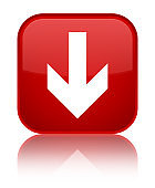 Download arrow icon special red square button