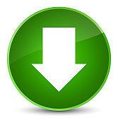 Download arrow icon elegant green round button