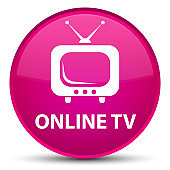 Online tv special pink round button