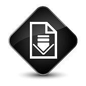 Download document icon elegant black diamond button