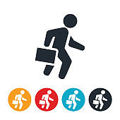 Businessman WIth Briefcase Icon