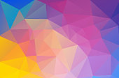 Abstract multicolor background with triangle shapes