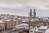 Zurich in winter
