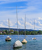 Boats on Lake Zurich