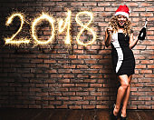woman after party for the 2018 new year