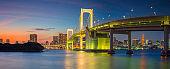Rainbow Bridge Panorama, Tokyo.