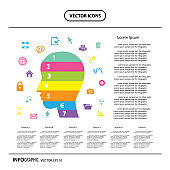 bussiness brain design template info graphic icon