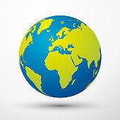 world globe Europe and Africa