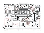Real Estate - line design composition