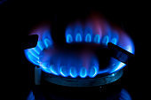 Close Up-Burner Gas