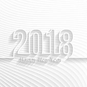 Happy new year 2018 - Abstract Background, Design Illutration