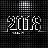 Happy new year 2018 - Dark abstract background