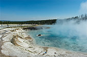 Yellowstone National Park Nature Geyser