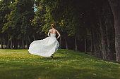 Portrait of a beautiful bride on wedding day