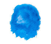 Blue paint spot