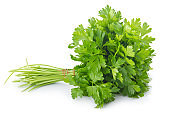 Bunch of ripe parsley isolated