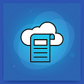 Cloud Reporting Line Icon