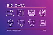BIG DATA LINE ICONS SET - ILLUSTRATION